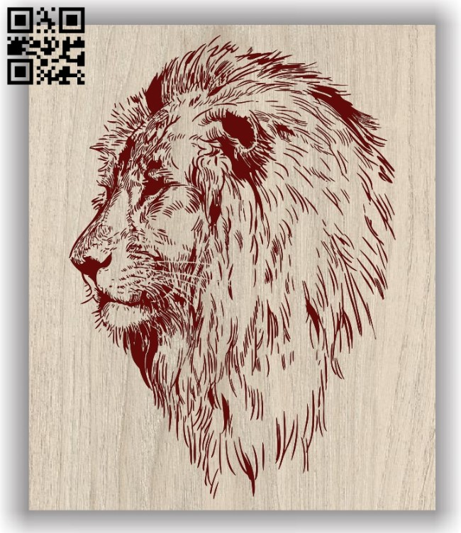 Lion head E0011762 file cdr and dxf free vector download for laser engraving machinesLion head E0011762 file cdr and dxf free vector download for laser engraving machines