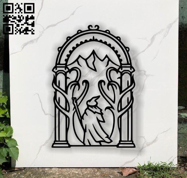 Lord of the ring E0011891 file cdr and dxf free vector download for laser cut