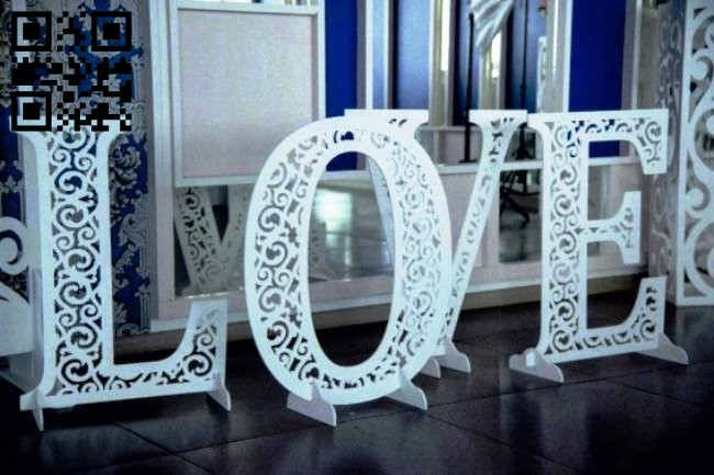 Love E0011706 file cdr and dxf free vector download for laser cut