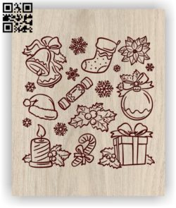 Merry Kristyana 2022 E0011849 file cdr and dxf free vector download for laser engraving machines