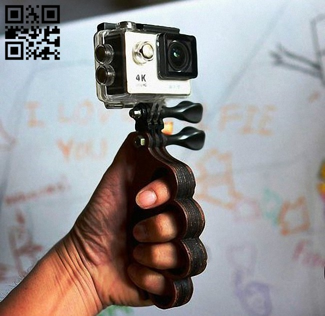 Mini camera holder E0011959 file cdr and dxf free vector download for laser cut
