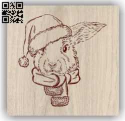 Mouse with Christmas E0011895 file cdr and dxf free vector download for laser engraving machines