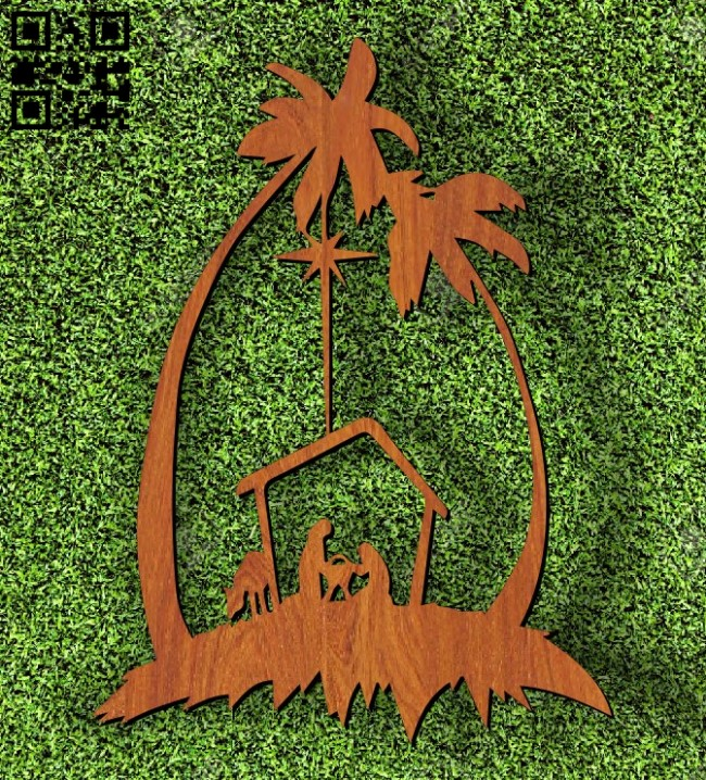 Nativity E0011744 file cdr and dxf free vector download for laser cut