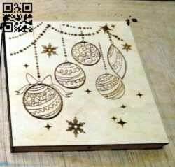 New Years souvenirs box E0011809 file cdr and dxf free vector download for Laser cut