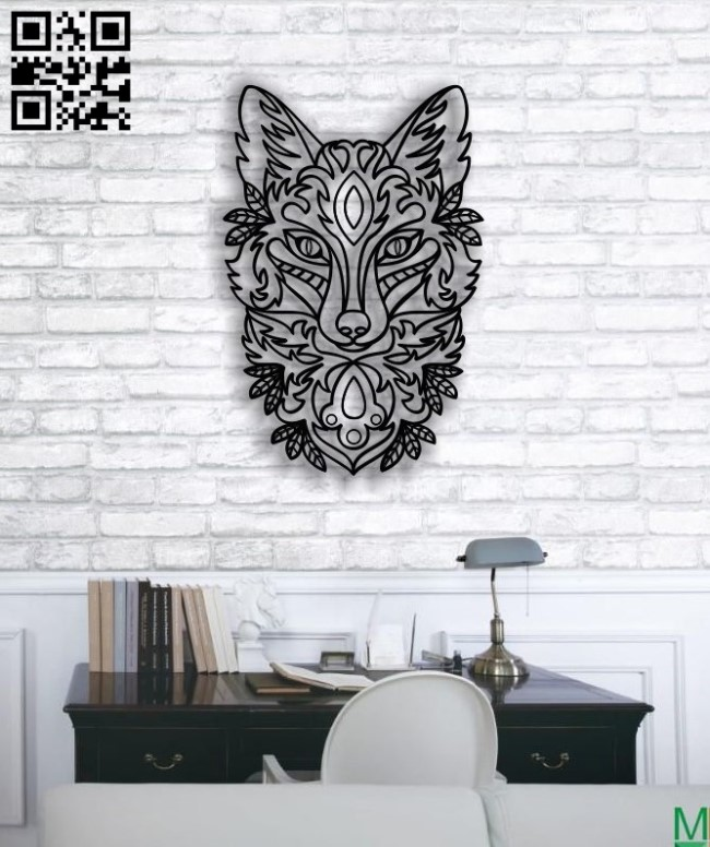 Ornament fox E0011655 file cdr and dxf free vector download for laser engraving machines