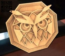Owl multilayer E0011832 file cdr and dxf free vector download for Laser cut