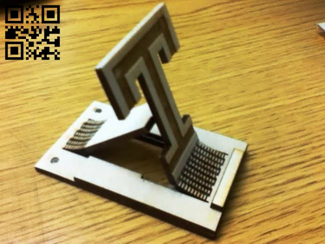 Phone Stand E0011788 file cdr and dxf free vector download for Laser cut