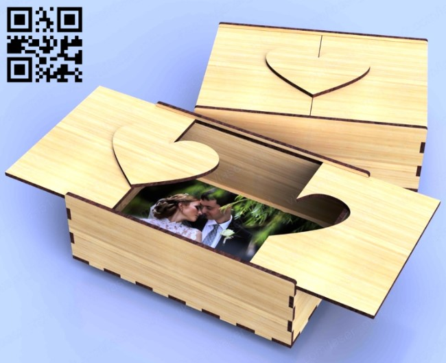 Photo box E0011755 file cdr and dxf free vector download for laser cut