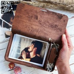 Photo box E0011884 file cdr and dxf free vector download for laser cut