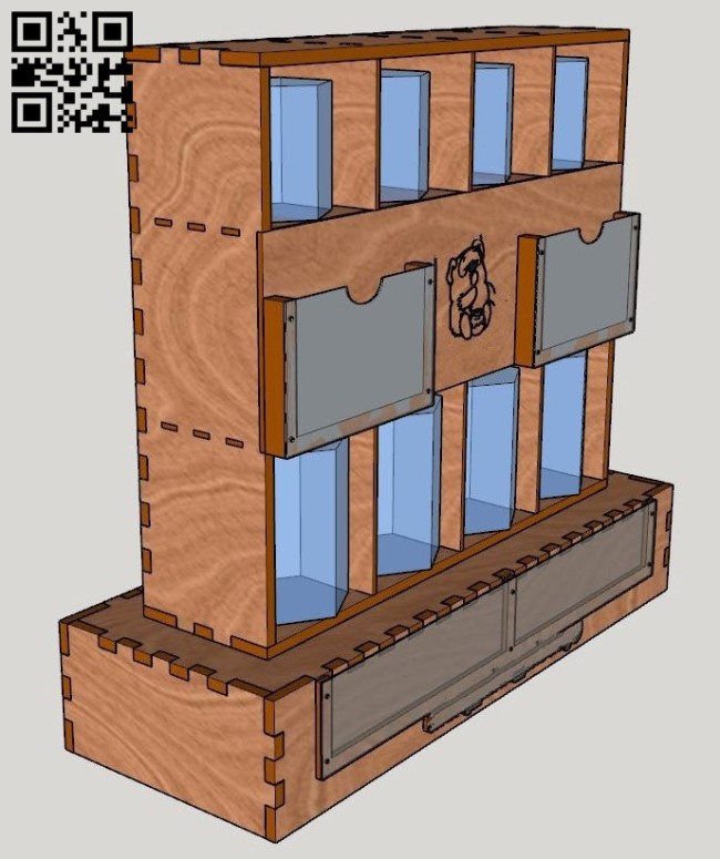 Rack for honey jars E0011773 file cdr and dxf free vector download for Laser cut