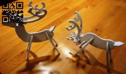 Reindeer E0011707 file cdr and dxf free vector download for laser cut