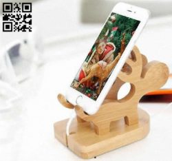 Reindeer phone Stand  E0011789 file cdr and dxf free vector download for Laser cut CNC