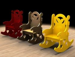 Rocking chair E0011680 file cdr and dxf free vector download for laser cut