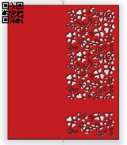 Slimline Floral Card E0011686 file cdr and dxf free vector download for Laser cut