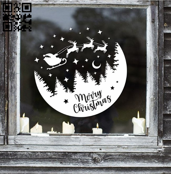 Snow Globe E0011778 file cdr and dxf free vector download for Laser cut