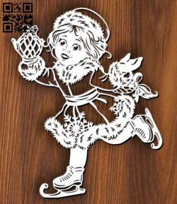 Snow Maiden E0011650 file cdr and dxf free vector download for laser cut