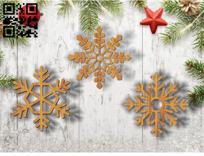 Snowflakes E0011791file cdr and dxf free vector download for Laser cut