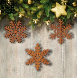 Snowflakes E0011792 file cdr and dxf free vector download for Laser cut