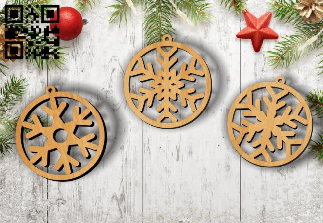 Snowflakes E0011884 file cdr and dxf free vector download for laser cut