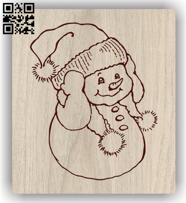 Snowman E0011696 file cdr and dxf free vector download for laser engraving machines