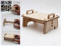Seat with Tenon clip E0011951 file cdr and dxf free vector download for laser cut