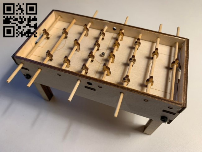 Table soccer E0011936 file cdr and dxf free vector download for laser cut