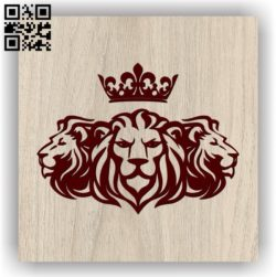 Three lions E0011864 file cdr and dxf free vector download for laser engraving machines