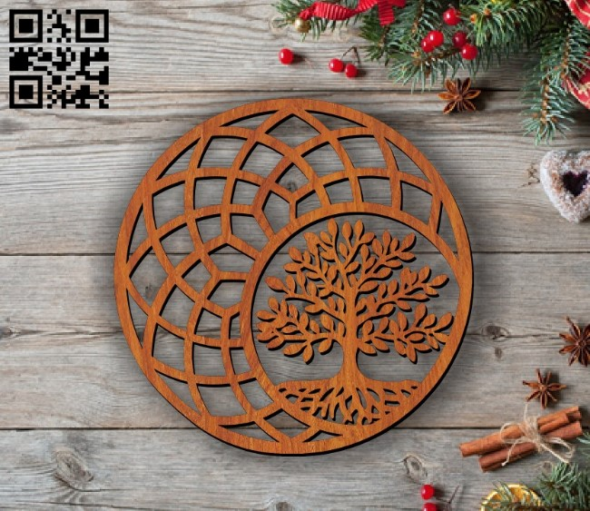 Tree E0011715 file cdr and dxf free vector download for laser cut