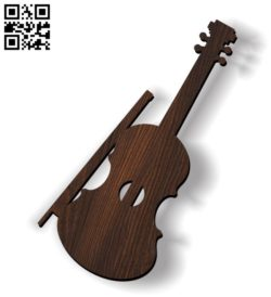 Violin E0011765 file cdr and dxf free vector download for Laser cut