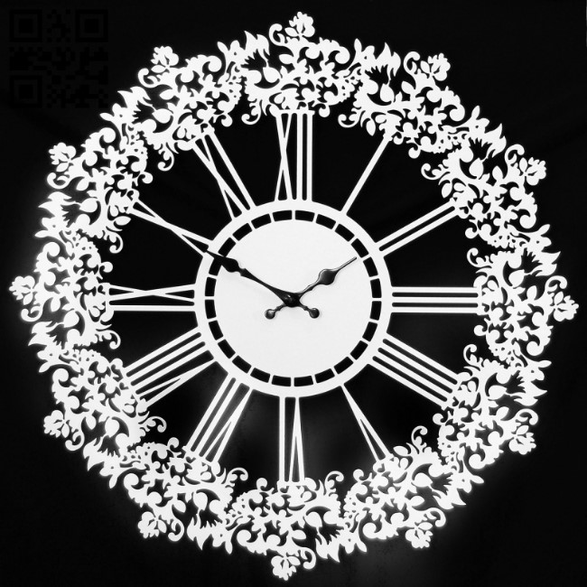 Wall clock E0011878 file cdr and dxf free vector download for laser cut