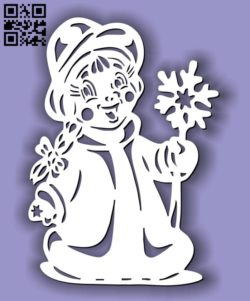 Winter girl E0011700 file cdr and dxf free vector download for laser cut