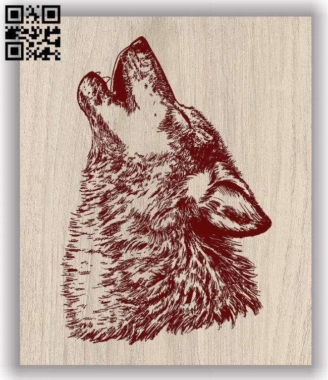 Wolf E0011761 file cdr and dxf free vector download for laser engraving machines
