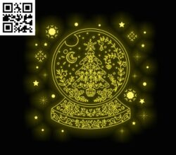3D illusion led lamp Christmas  E0012003 file cdr and dxf free vector download for laser engraving machines