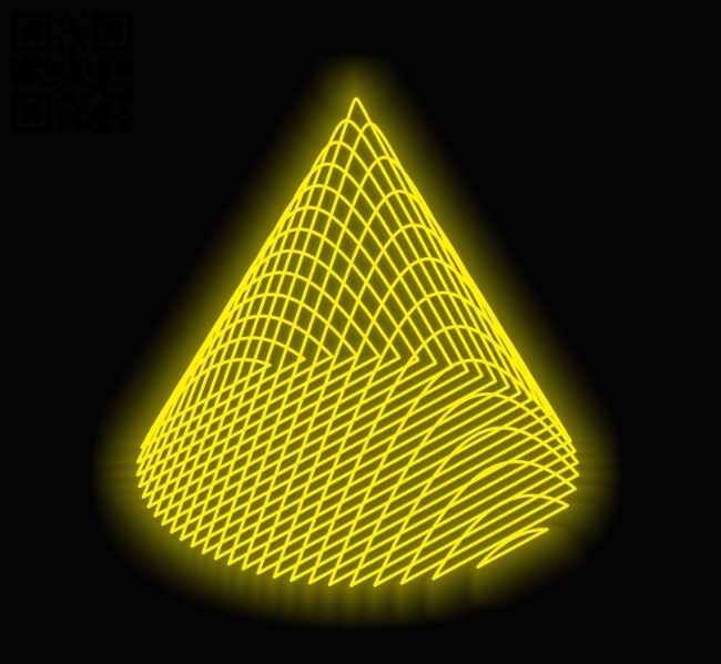 3D illusion led lamp Cone E0011977 file cdr and dxf free vector download for laser engraving machines