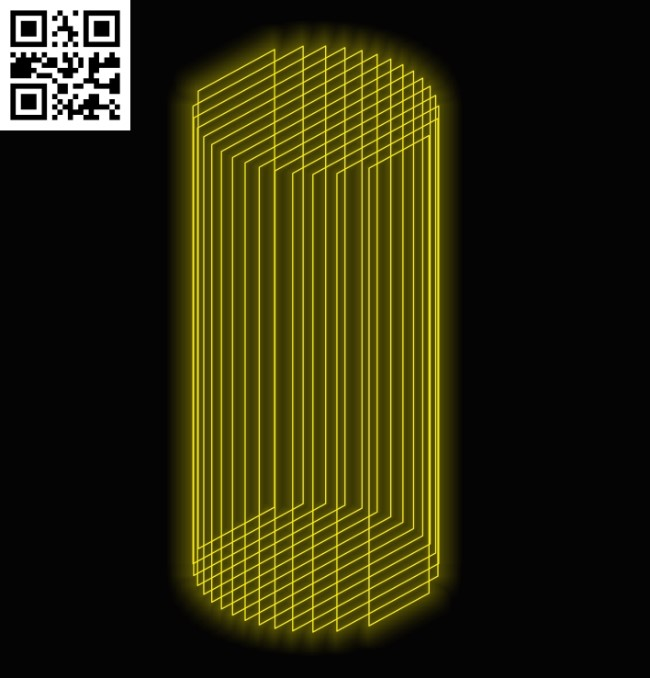 3D illusion led lamp Cylinder E0011979 file cdr and dxf free vector download for laser engraving machines