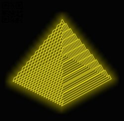 3D illusion led lamp Pyramid E0011978 file cdr and dxf free vector download for laser engraving machines