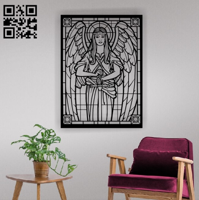 Angel E0012249 file cdr and dxf free vector download for laser cut plasma