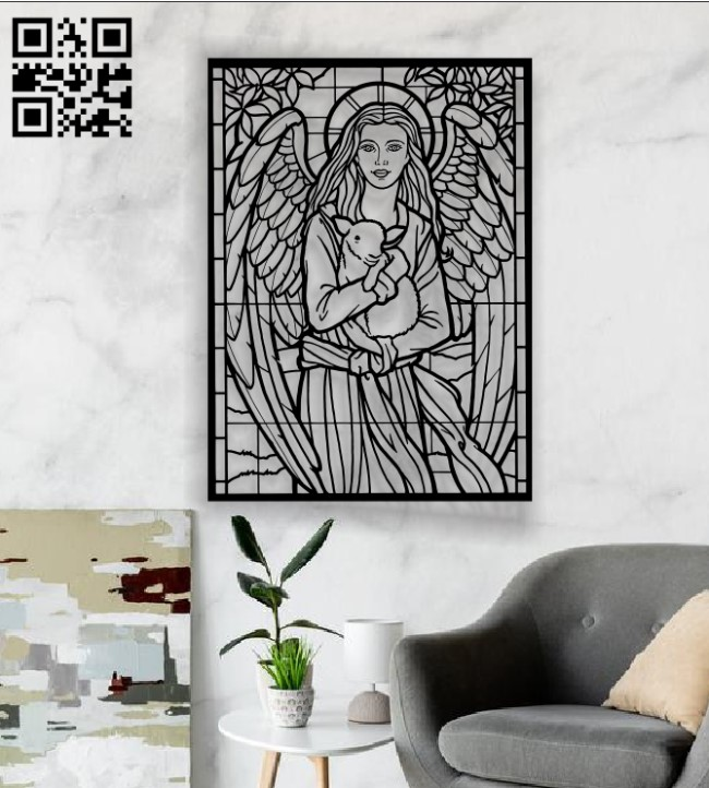 Angels and sheep E0012250 file cdr and dxf free vector download for laser cut plasma