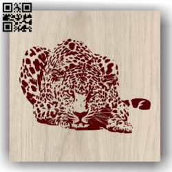 Art leopard E0011983 file cdr and dxf free vector download for laser engraving machines