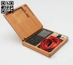 Audio player case E0012088 file cdr and dxf free vector download for laser cut