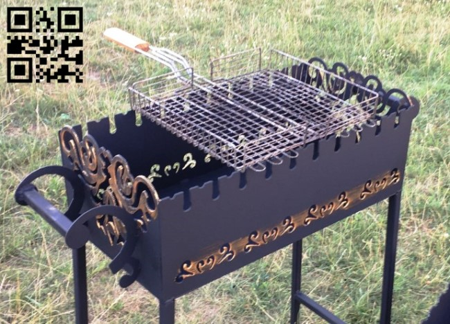 BBQ grill E0011982 file cdr and dxf free vector download for laser cut plasma