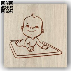 Babies practice crawling E0012032 file cdr and dxf free vector download for laser engraving machines