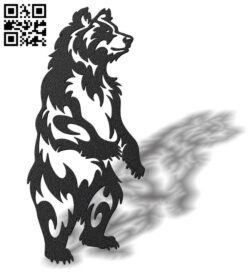 Bear E0012164 file cdr and dxf free vector download for laser cut plasma