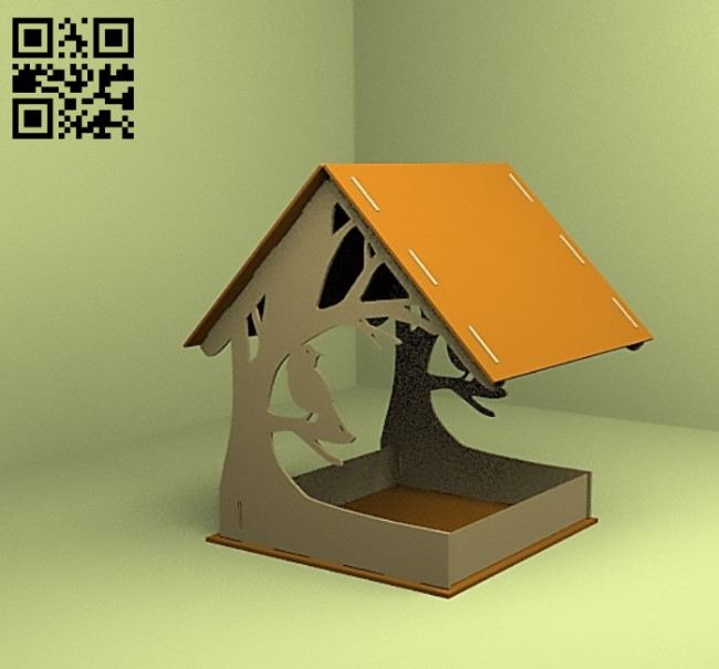 Bird feeders E0012242 file cdr and dxf free vector download for laser cut