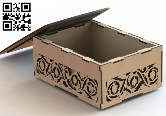 Box E0012174 file cdr and dxf free vector download for laser cut