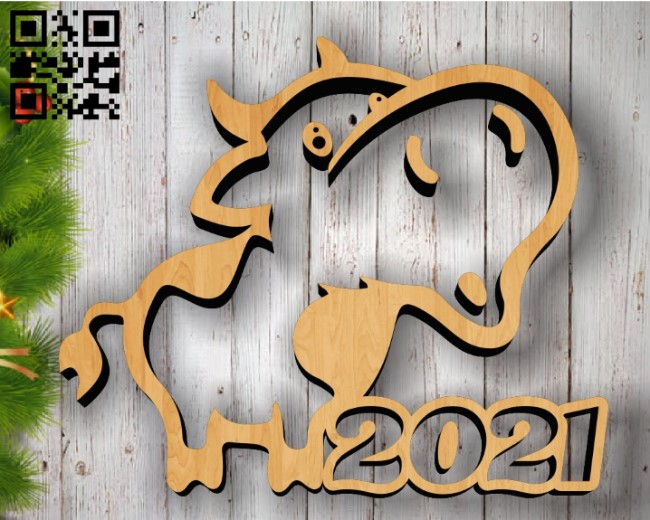 Bull 2021 E0011971 file cdr and dxf free vector download for laser cut