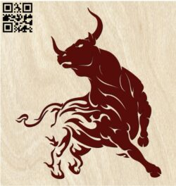 Bull E0012140 file cdr and dxf free vector download for laser engraving machines