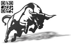 Bull E0012165 file cdr and dxf free vector download for laser cut plasma