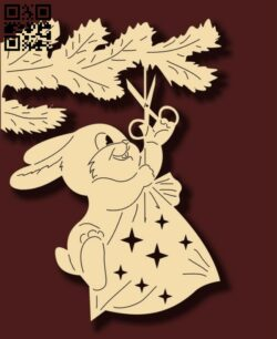 Bunny E0012194 file cdr and dxf free vector download for laser cut