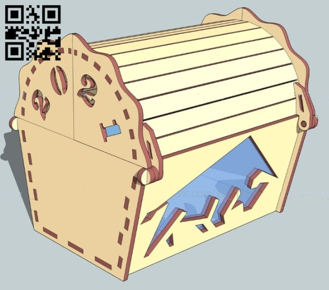 Chest E0012214 file cdr and dxf free vector download for laser cut